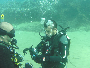 divers student and instructor